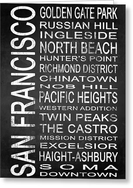 Height Mixed Media Greeting Cards - SUBWAY San Francisco 4 Greeting Card by Melissa Smith