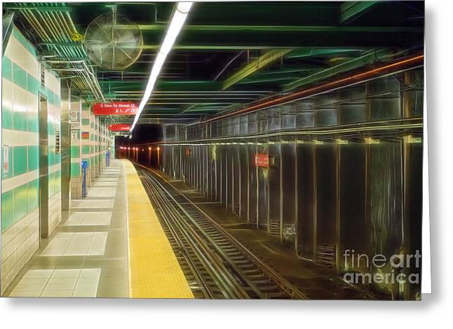 Underground Railroad Digital Art Greeting Cards - Subway Greeting Card by Terry Weaver