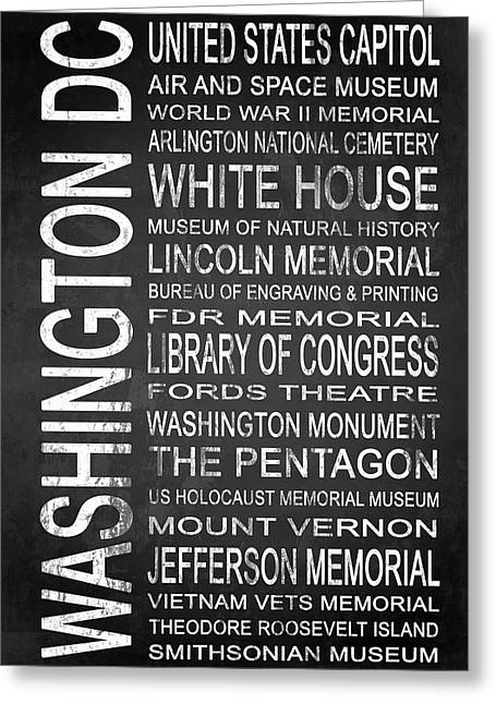 Smithsonian Museum Greeting Cards - SUBWAY Washington DC 2 Greeting Card by Melissa Smith