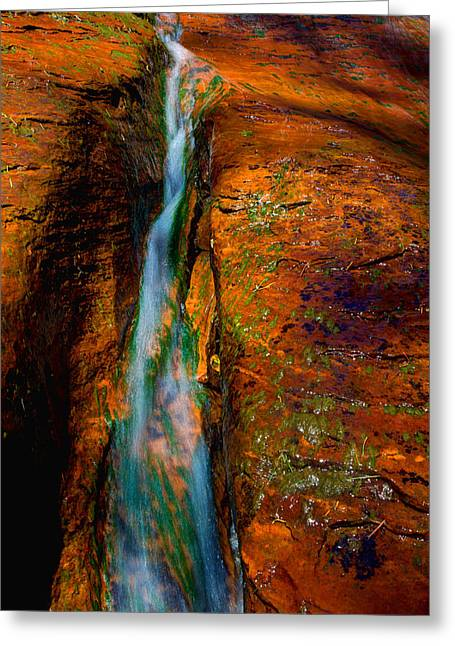 Crack Greeting Cards - Subways Fault Greeting Card by Chad Dutson