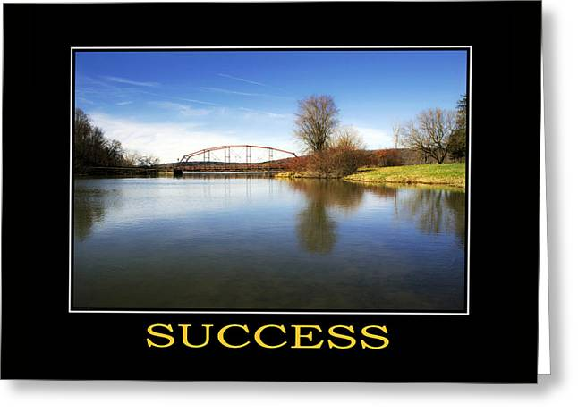 Rollo Digital Greeting Cards - Success Inspirational Motivational Poster Art Greeting Card by Christina Rollo