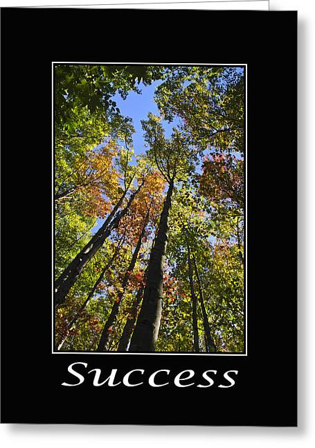 Incentive Greeting Cards - Success Inspirational Poster Greeting Card by Christina Rollo