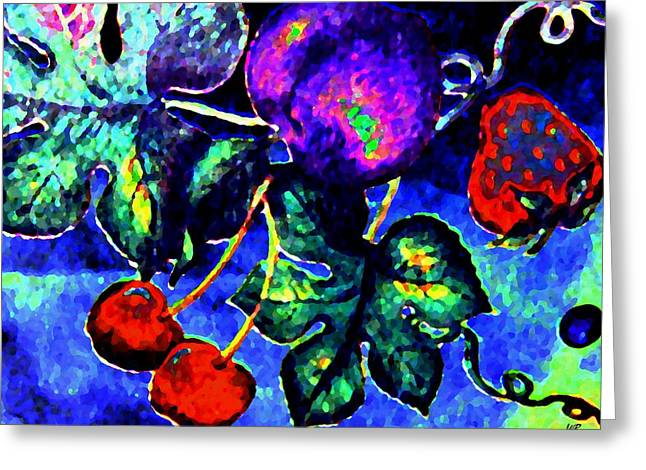 Grape Leaves Greeting Cards - Succulence Greeting Card by Will Borden