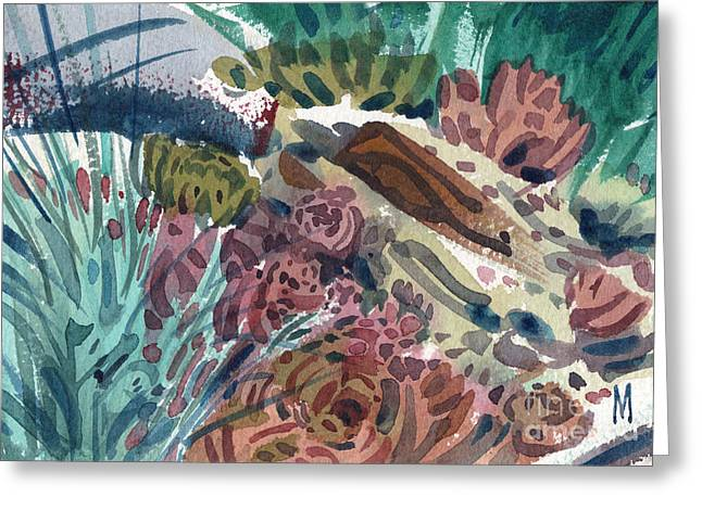 Succulents Greeting Cards - Succulent Garden Greeting Card by Donald Maier