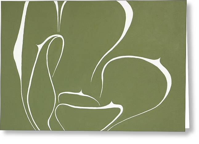 Abstract Shapes Greeting Cards - Succulent In Green Greeting Card by Ben Gertsberg
