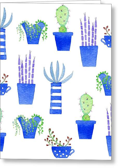 Succulents Greeting Card by Nic Squirrell