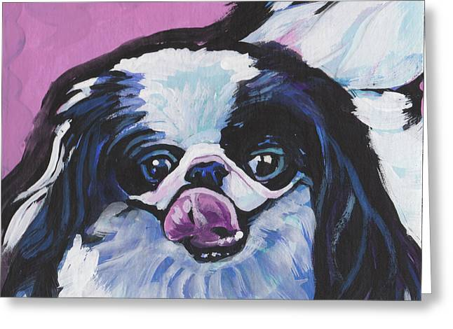 Such A Chinny Chin Chin Greeting Card by Lea