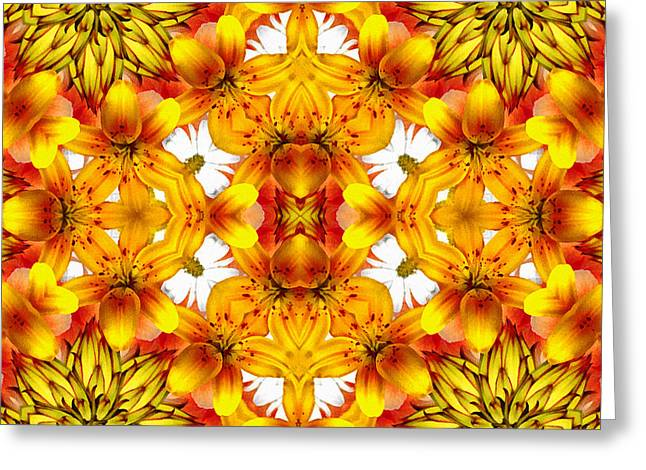 Cadeau Greeting Cards - Sudden Heat Mandala Greeting Card by Georgiana Romanovna