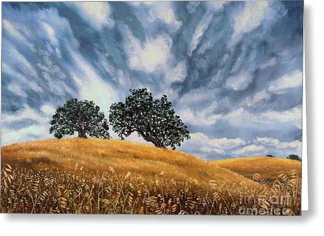 California Artist Greeting Cards - Sudden Storm in May Greeting Card by Laura Iverson