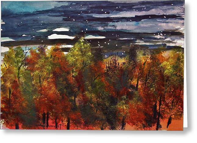 Moonrise Drawings Greeting Cards - Suddenly Greeting Card by John  Williams