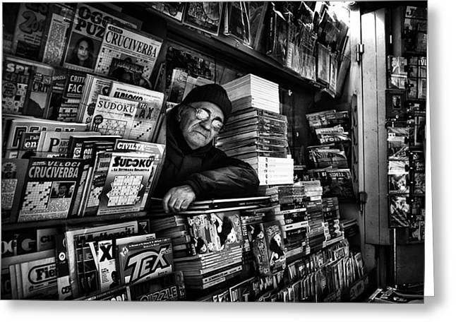 Booths Greeting Cards - Sudoku Corner... Greeting Card by Antonio Grambone