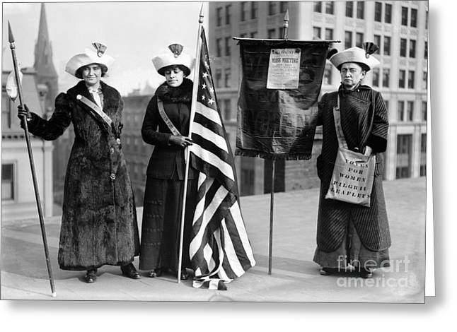 Protesters Greeting Cards - SUFFRAGETTES, c1910 Greeting Card by Granger