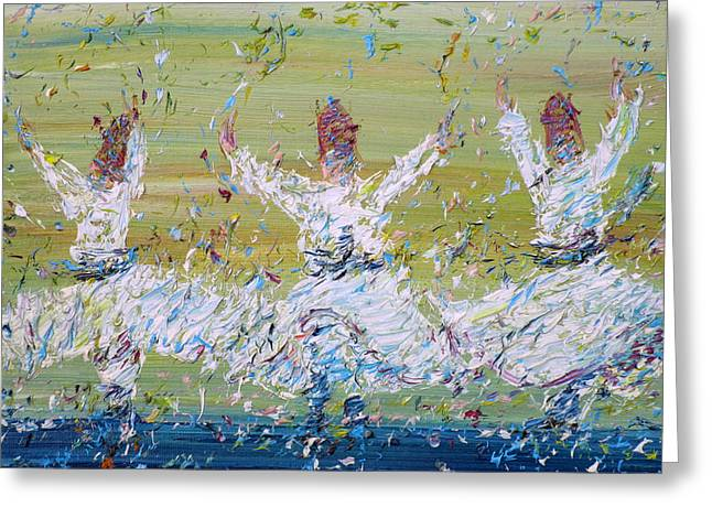 Sufi Whirling Greeting Card by Fabrizio Cassetta