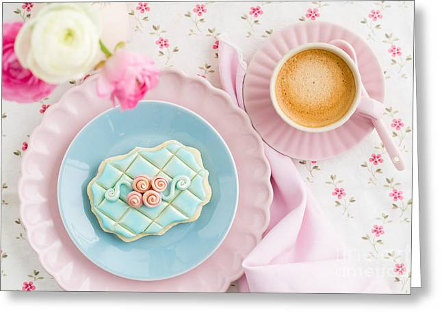 Floral Embellishment Greeting Cards - Sugar cookie Greeting Card by Elisabeth Coelfen