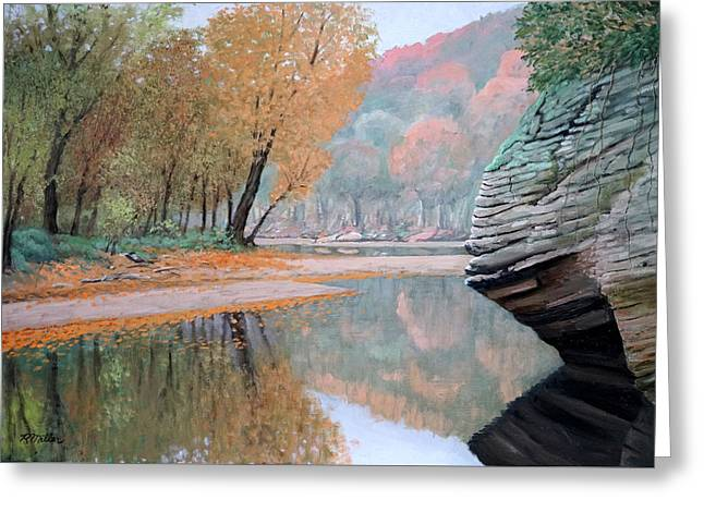 Sugar Creek Greeting Card by Rudolph J Miller