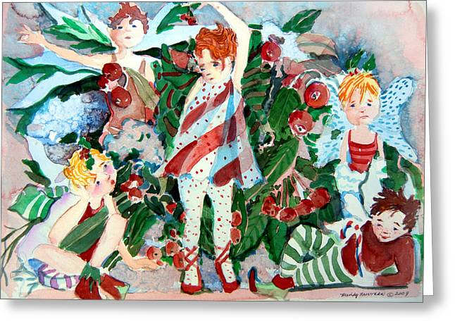 Magical Drawings Greeting Cards - Sugar Plum Fairies Greeting Card by Mindy Newman