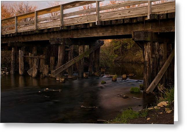 Sugar River Trestle Wisconsin Greeting Card by Steve Gadomski