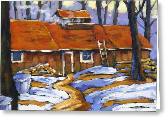 Maple Syrup Greeting Cards - Sugar Time Greeting Card by Richard T Pranke