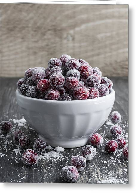 Scattered Greeting Cards - Sugared cranberries Greeting Card by Elena Elisseeva