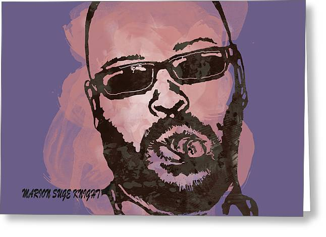1992 Greeting Cards - Suge Knight Pop Stylised Art Sketch Poster Greeting Card by Kim Wang