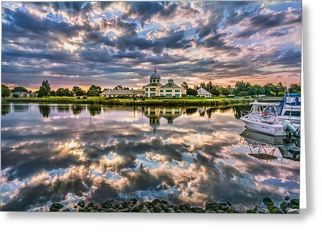 Phil Clark Greeting Cards - Suisun Yacht Club Greeting Card by Phil Clark
