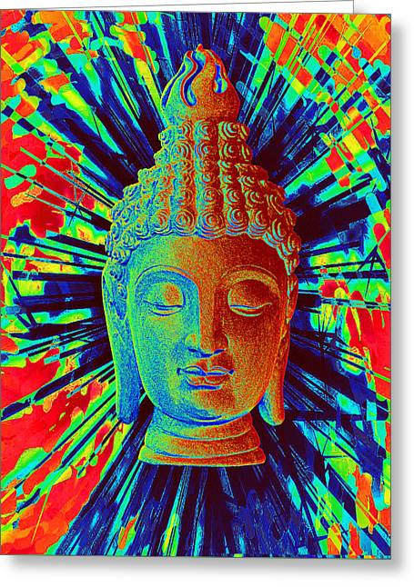 Choosing Sculptures Greeting Cards - Sukhothai colorful 3 Greeting Card by Terrell Kaucher