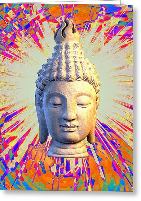 Choosing Sculptures Greeting Cards - Sukhothai Colorful b Greeting Card by Terrell Kaucher