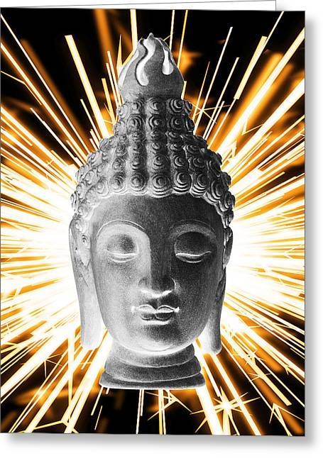 Print Sculptures Greeting Cards - Sukhothai Enlightenment  Greeting Card by Terrell Kaucher
