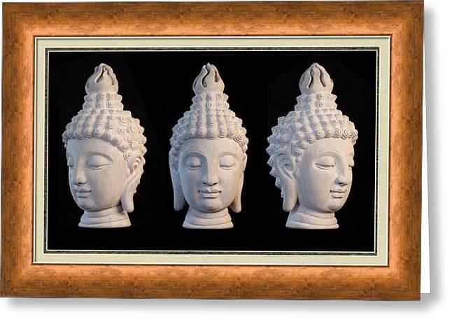 Rustic Sculptures Greeting Cards - Sukhothai Greeting Card 1 Greeting Card by Terrell Kaucher