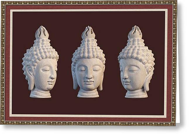 Rustic Sculptures Greeting Cards - Sukhothai Greeting Card 2 Greeting Card by Terrell Kaucher