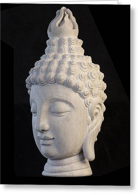 Buddhism Sculptures Greeting Cards - Sukhothai L Greeting Card by Terrell Kaucher