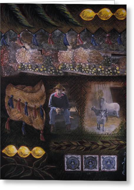 Best Sellers -  - Vodou Greeting Cards - Sukkah for Papa Zaca Greeting Card by Barbara Nesin