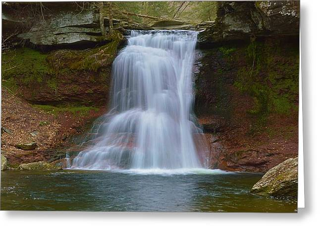 Fishing Creek Greeting Cards - Sullivan Falls Pennsylvania State Game Lands No.13 0485 Greeting Card by Joel E Blyler