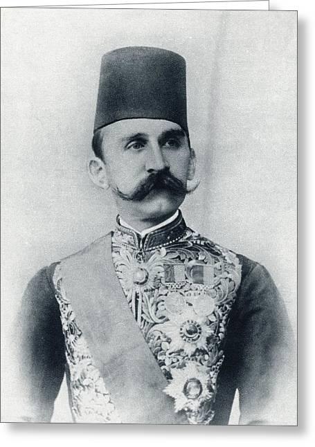 Protectorate Greeting Cards - Sultan Husayn Kamil 1853 To 1917 Greeting Card by Ken Welsh