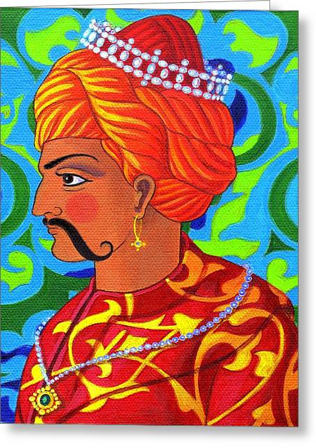 Colorful Indian Greeting Cards - Sultan Greeting Card by Jane Tattersfield