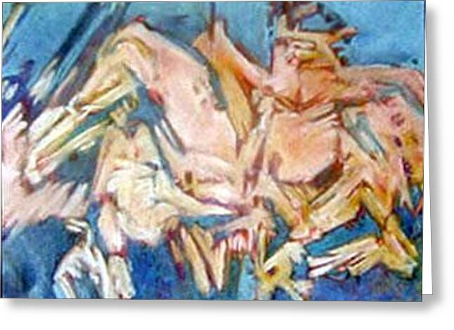 Figural Pastels Greeting Cards - Summer 2 Greeting Card by Michal Rezanka