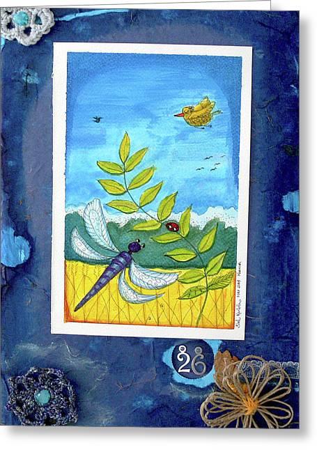 Cardboard Mixed Media Greeting Cards - Summer 26 Greeting Card by Sibel Kantola
