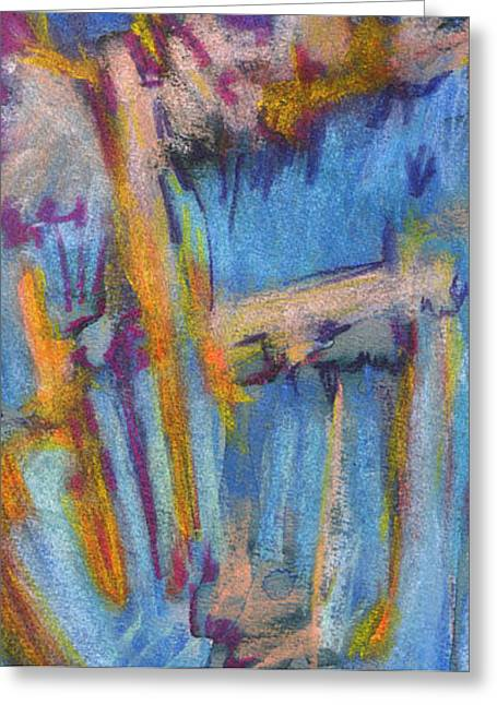 Figural Pastels Greeting Cards - Summer Abstract 1 Greeting Card by Michal Rezanka