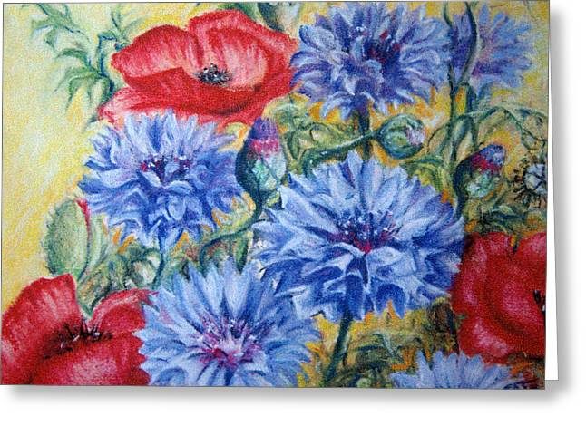 Recently Sold -  - Cushion Greeting Cards - Summer Abundance Greeting Card by Rosemary Colyer