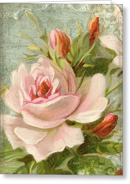 Summer At Cape May - Porch Roses Greeting Card by Audrey Jeanne Roberts