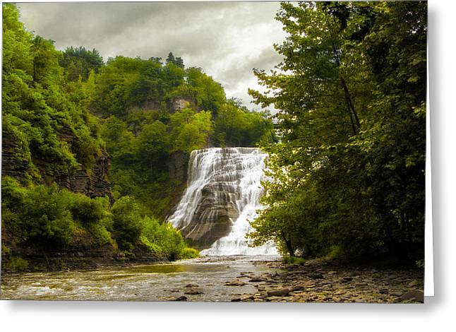 Stream Digital Greeting Cards - Summer at Ithaca Falls Greeting Card by Jessica Jenney