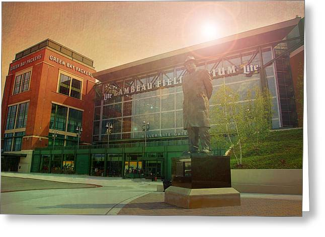 Lambeau Greeting Cards - Summer at Lambeau Greeting Card by Joel Witmeyer