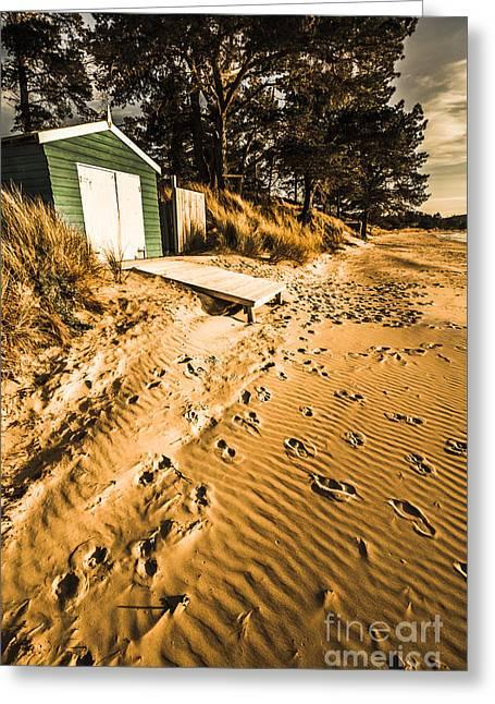 Summer Beach Shacks Greeting Card by Jorgo Photography - Wall Art Gallery