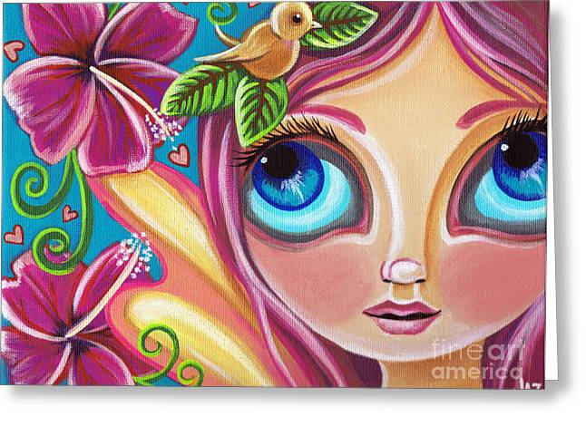 Faery ists Paintings Greeting Cards - Summer Bliss Fairy Greeting Card by Jaz Higgins