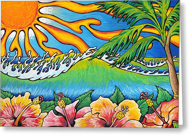 Hibiscus Coast Greeting Cards - Summer Blooms Greeting Card by Adam Johnson