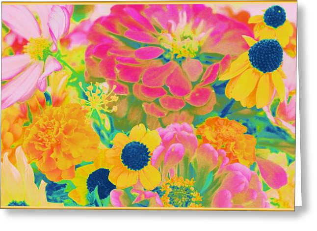 Nature Scene Greeting Cards - Summer Blossoms - Pop Art Greeting Card by  Photographic Art and Design by Dora Sofia Caputo