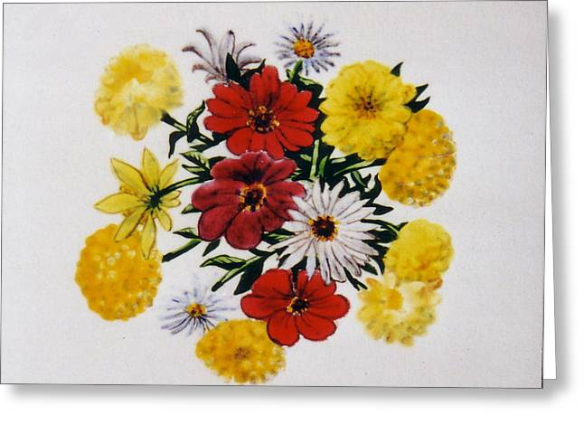 Print Ceramics Greeting Cards - Summer Bouquet Greeting Card by Dy Witt
