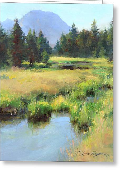 Summer Calm In The Grand Tetons Greeting Card by Anna Rose Bain
