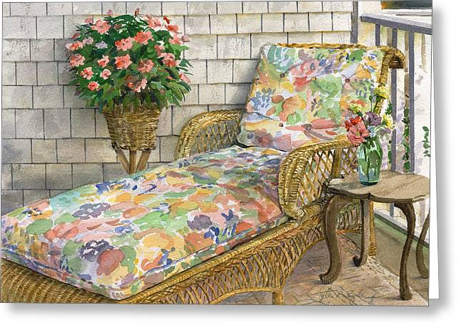 Chaise Greeting Cards - Summer Chaise Greeting Card by Tyler Ryder