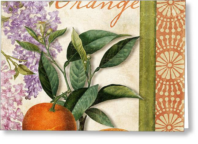 Citrus Greeting Cards - Summer Citrus Orange Greeting Card by Mindy Sommers